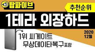 [탑파이브] 외장하드 1TB 추천순위 - 씨게이트 1위…