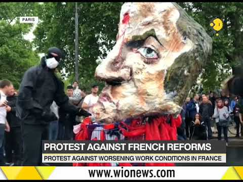 Protest against worsening work conditions in France