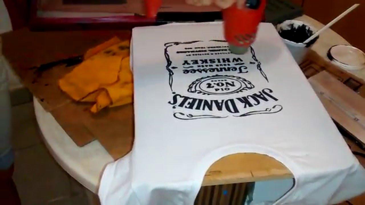 Serigrafía en casa secado - YouTube 402ad29957f8a