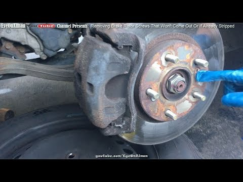 removing-brake-rotor-screws-that-won't-come-out-of-if-already-stripped