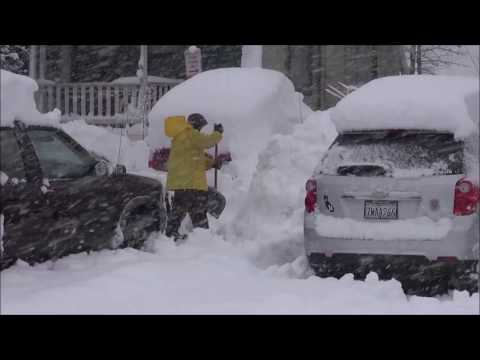 Truckee, California Heavy Snow - January 10th, 2017