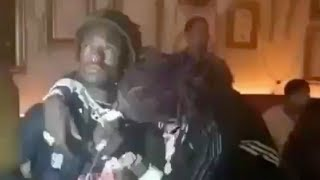 Young Thug kisses Lil Uzi Vert's chain he gave to him