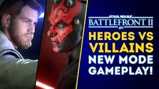 Heroes vs Villains NEW MODE Gameplay! (HvV Rework!) - Star Wars Battlefront 2 Update