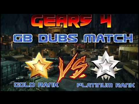 GameBattles 2v2 ladder match | Gold ranks Vs Platinum | GEARS OF WAR 4
