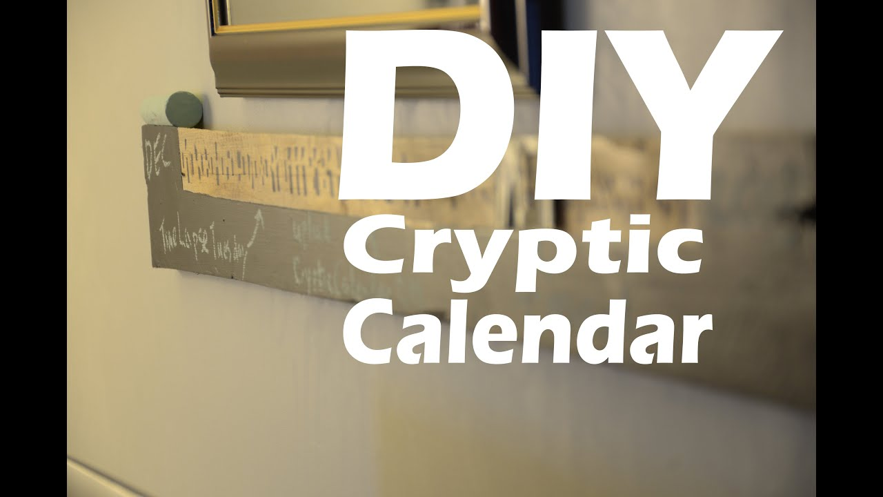 Pallet Board Cryptic Perpetual Calendar With Chalkboard