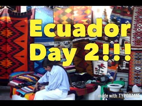 Giant Outdoor Market!!! (Otavalo Market)