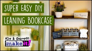 How to Build a Leaning Wall Shelf Bookcase #RyobiNation #DIY