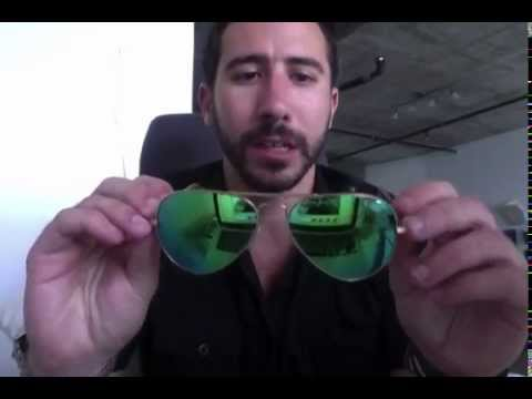 5017bbcc48b Ray-Ban RB 3025 112 P9 Green Polarized Flash Mirror Aviators Review ...