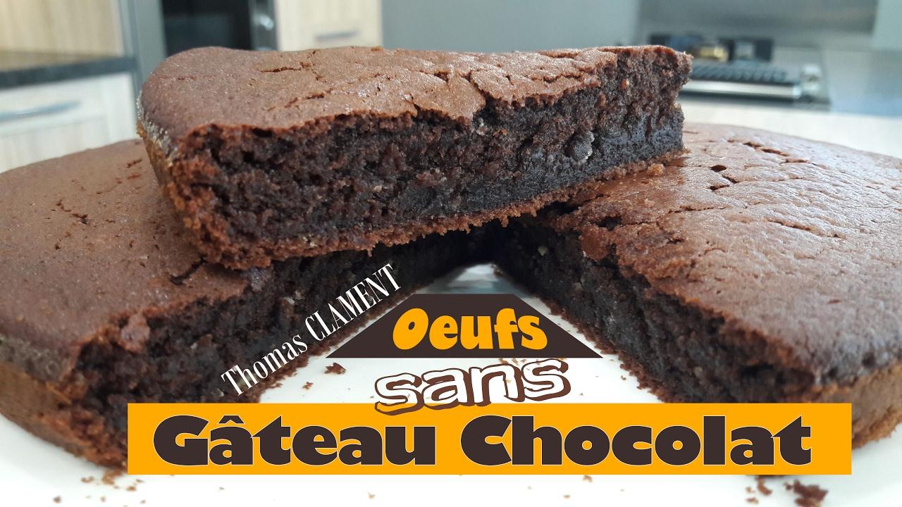 Gâteau au Chocolat sans Oeufs | Thomas CLAMENT