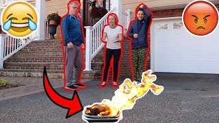 DESTROYING THE THANKSGIVING TURKEY PRANK! *FREAKOUT*