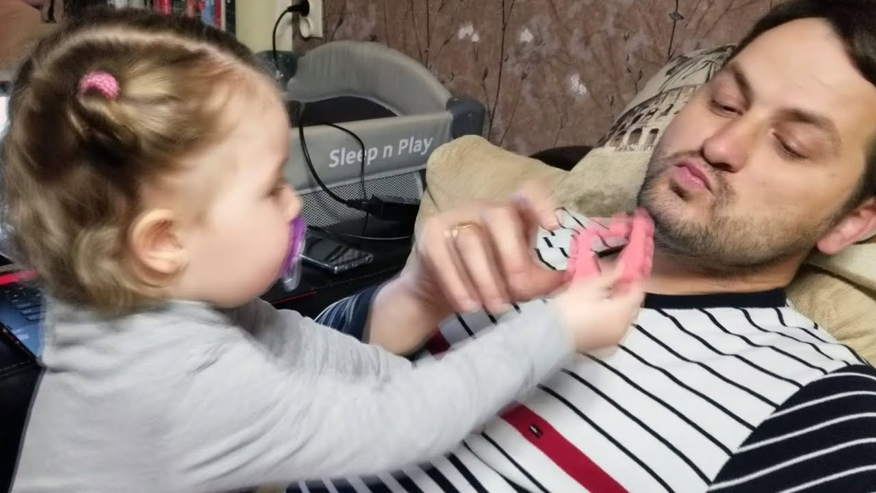 CUTE BABY Can't Stop LAUGHING at Dad - Cute Toddler Lile