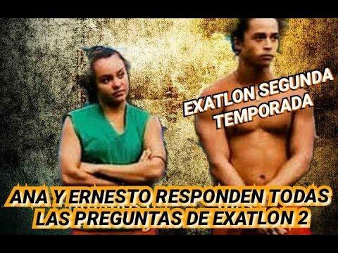 ANA LAGO Y ERNESTO CAZARES contestan preguntas de EXATLON segunda temporada