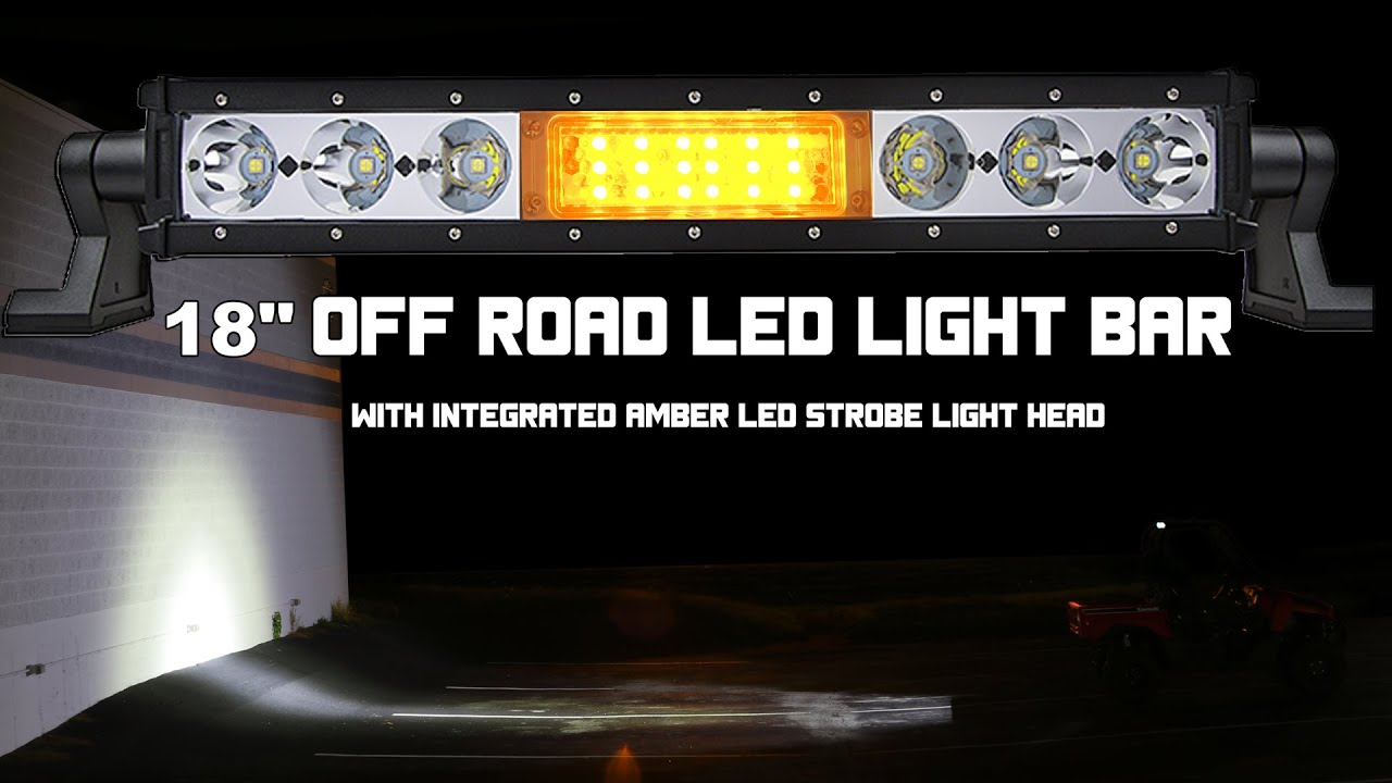 18 Off Road Led Light Bar With Integrated Amber Led