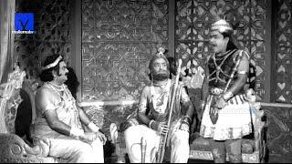 """""""Sri Krishna in disguise"""" - Sri Krishna Vijayam Movie     NTR   SVR  Jayalalithaa   Jamuna"""