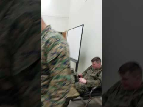 Marines Dancing to JUJU on the beat