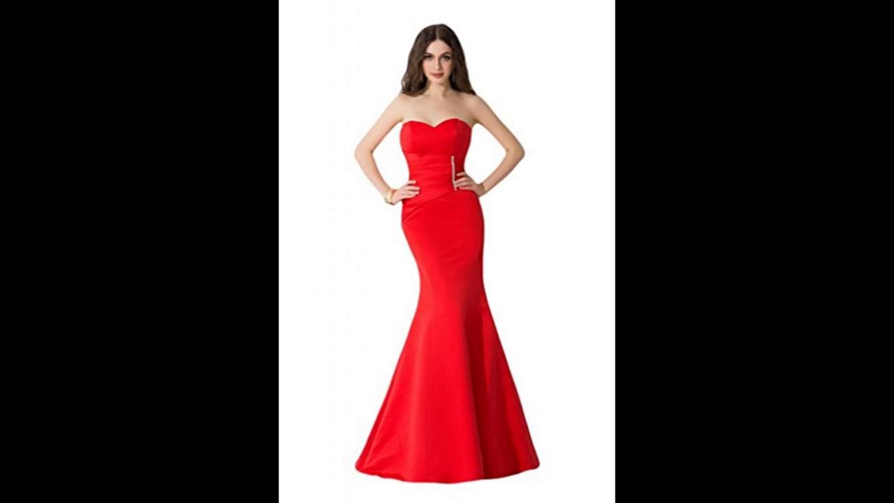 Vestidos de noche color rojo 2018