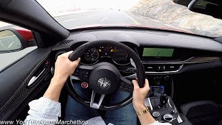 YOU Drive the Alfa Romeo Stelvio Quadrifoglio Fast! - POV Test Drive