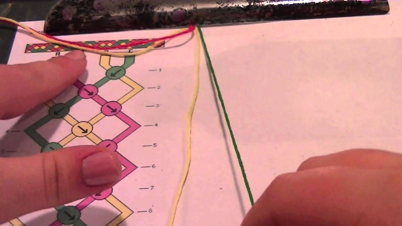 How To Make Friendship Bracelets: Reading Friendship Bracelet Patterns   Youtube
