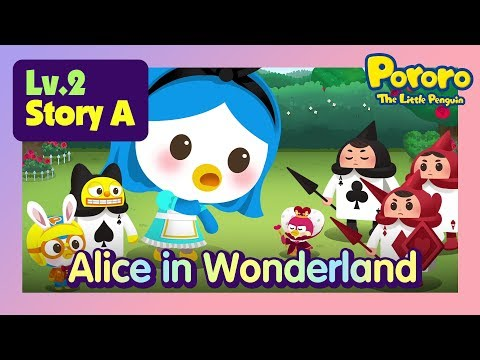 [Lv.2] Alice in Wonderland | Alice becomes gigantic and meets the Ace guard man!  | Fairy tales