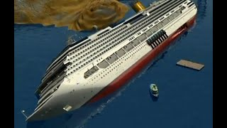 The Raising of The Costa Concordia vessel video