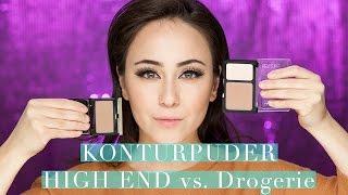 Konturpuder Vergleich | DROGERIE vs HIGH END | Make-up Basics #10 | Hatice Schmidt