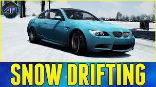 BMW M3 WINTER DRIFTING!!! (Karlstad Snow Drifting Map Showcase)