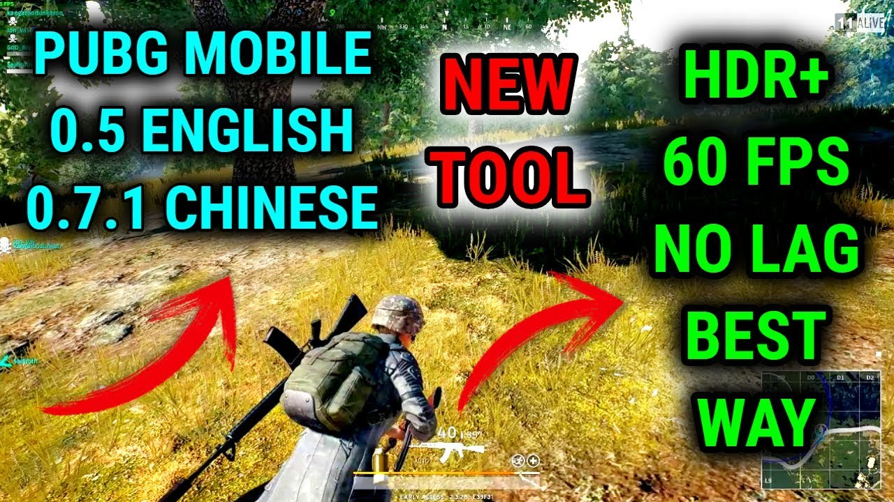 Unlock HDR+ 60 Fps PUBG Mobile 0.7.1 Chinese And 0.5