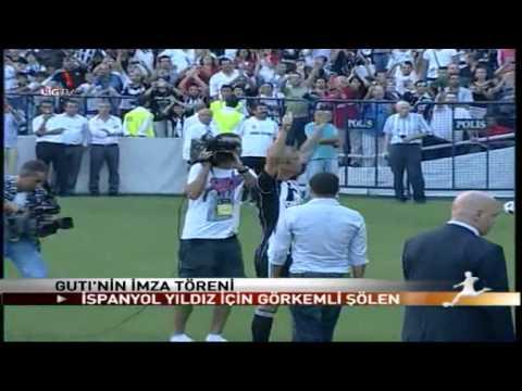 Guti: présentation à Besiktas dans une ambiance de feu !!