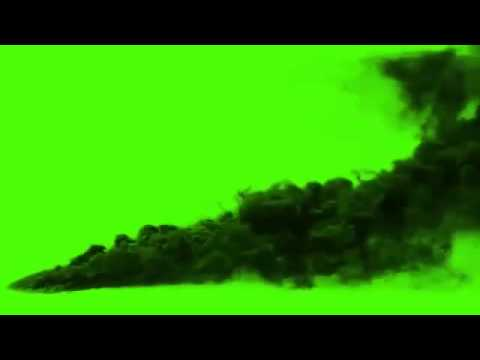 black smoke green screen effect