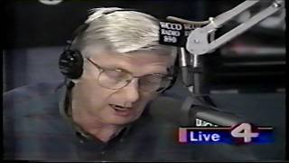 (RadioTapes.com) WCCO-AM Roger Erickson announcing school closings on  January 18, 1996
