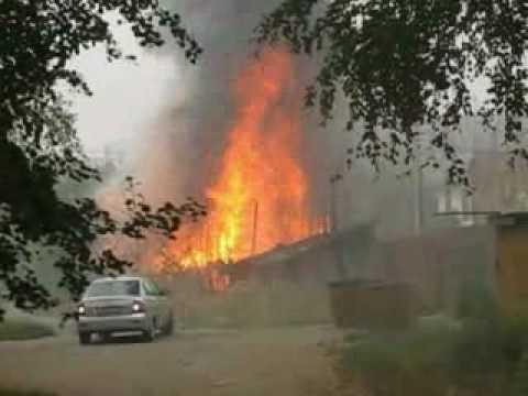 Пожар на ул.Зарубина.г. Й-Ола.