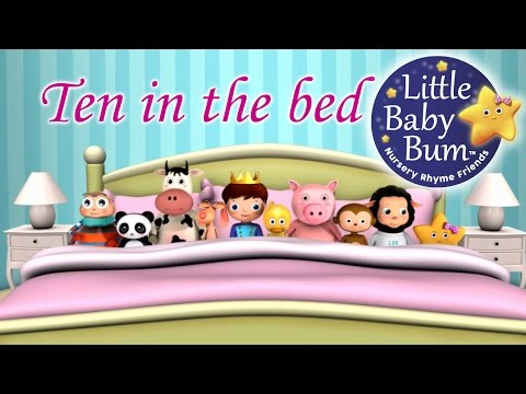 Ten In The Bed  Nursery Rhymes  from LittleBaBum!