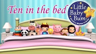 Ten In The Bed | Nursery Rhymes | from LittleBabyBum! thumbnail