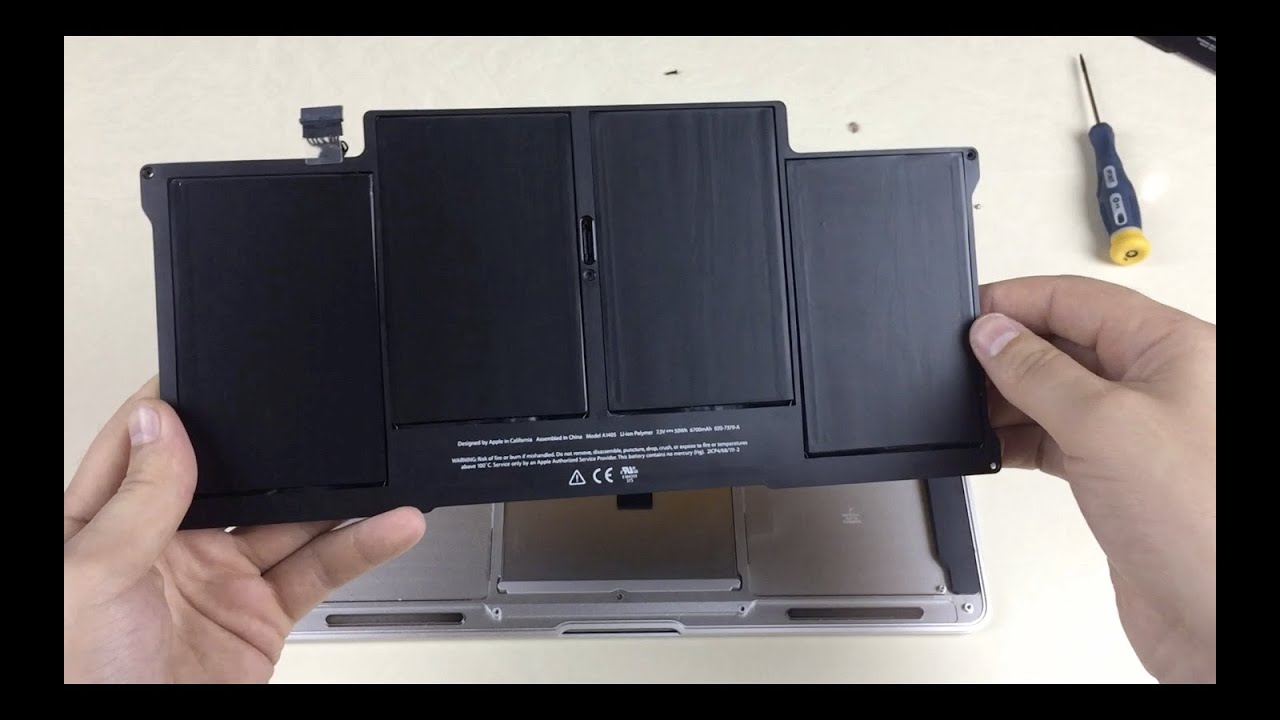 how to replace macbook air 13 battery mid 2012 youtube. Black Bedroom Furniture Sets. Home Design Ideas