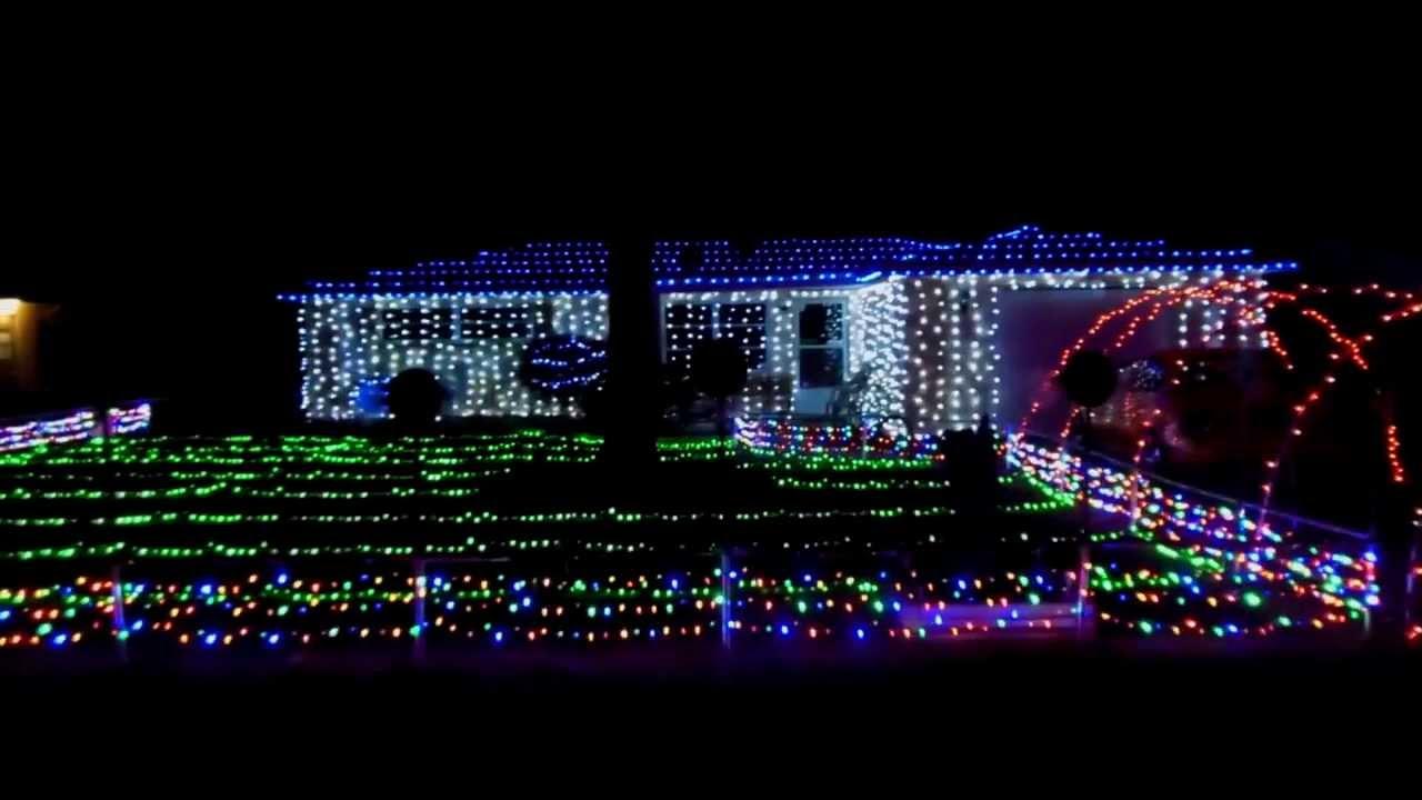 My 2013 Mr Christmas Lights & Sound Led Christmas display (half ...