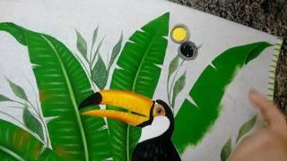 Pintura de folha de bananeira