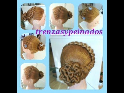 Peinado Para Ninas Curso 14 Trenza Pasacinta Con Mono Youtube