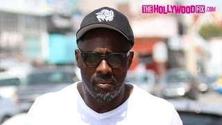 Idris Elba Takes Daughter Isan Shopping On Melrose Ave. 5.26.15 - TheHollywoodFix.com