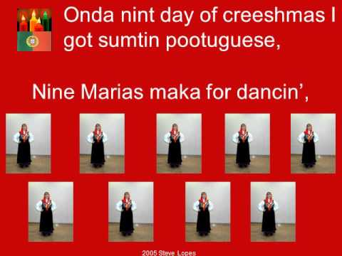 Pootuguese 12 Days of Christmas (original 2005 powerpoint)