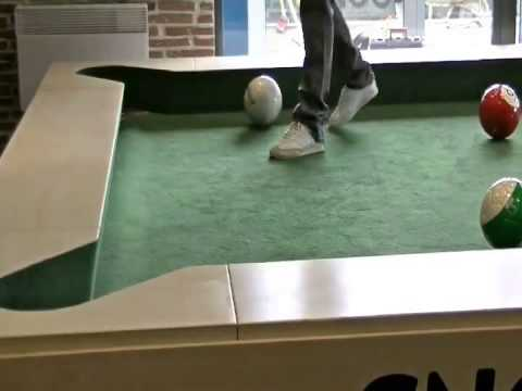 you feet of play a pool with game that soccer neatorama your snookball table