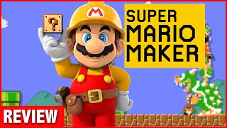Super Mario Maker Wii U Review (Video Game Video Review)