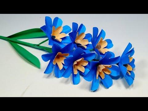 Stick Flower: How to Make Paper Flower - DIY Flower Step By Step Tutorial -Jarine's Crafty Creation