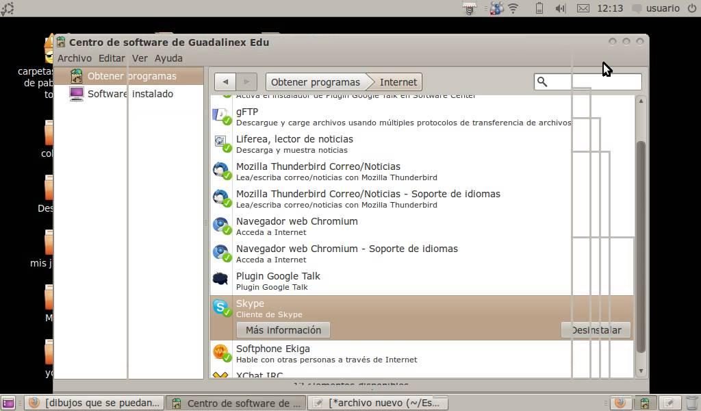 skype guadalinex