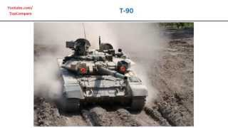 T-90 compared to K2 Black Panther, Main Battle Tank full specs