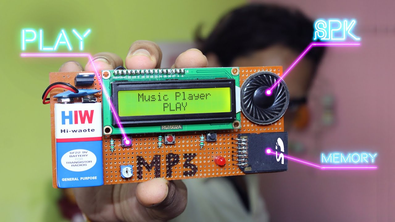how to make music player with sd card at your home