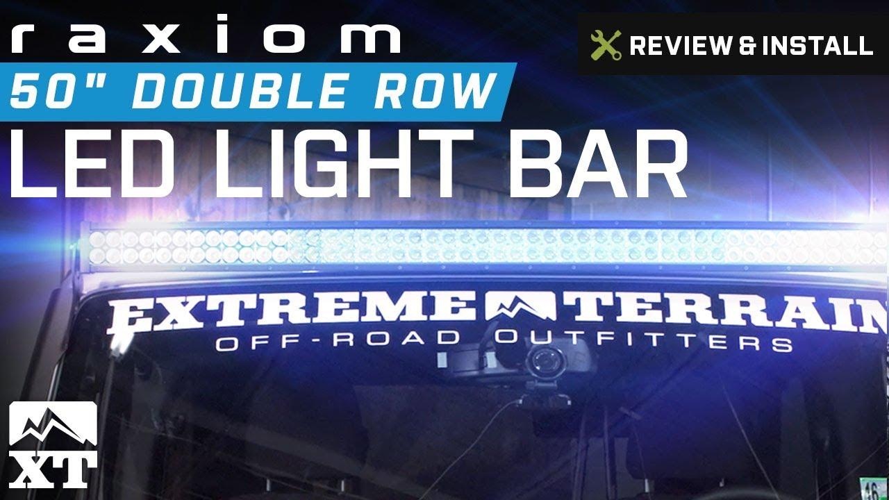 Jeep Wrangler Raxiom 50 Double Row Led Light Bar 1987 2016 Yj Tj Wiring Jk Review Install