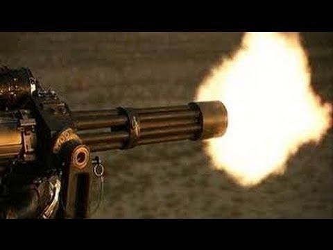 Deadly Fast Us Military M134D Gatling Machine Gun