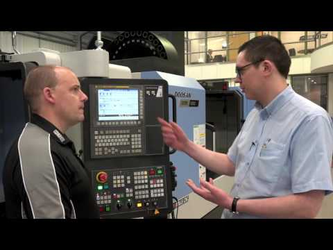 Mills CNC talk to Paul about the easy operation control EOP on their Doosan FANUC machines