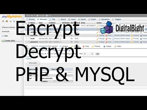 Encrypt Decrypt Hashing - PHP & MYSQL - Protect your data in