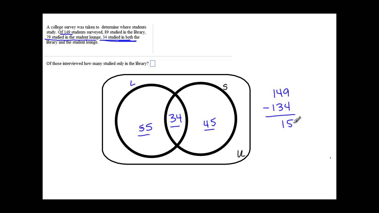 Section 25 example of venn diagram application with 2 sets youtube section 25 example of venn diagram application with 2 sets ccuart Images